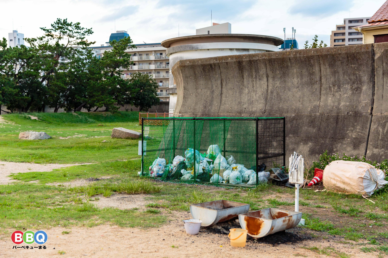 御前浜公園ゴミ捨て場