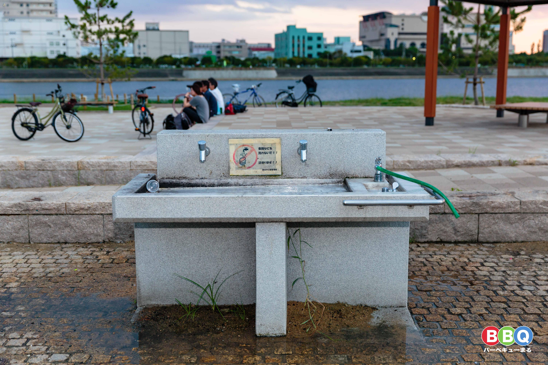御前浜公園の水回り