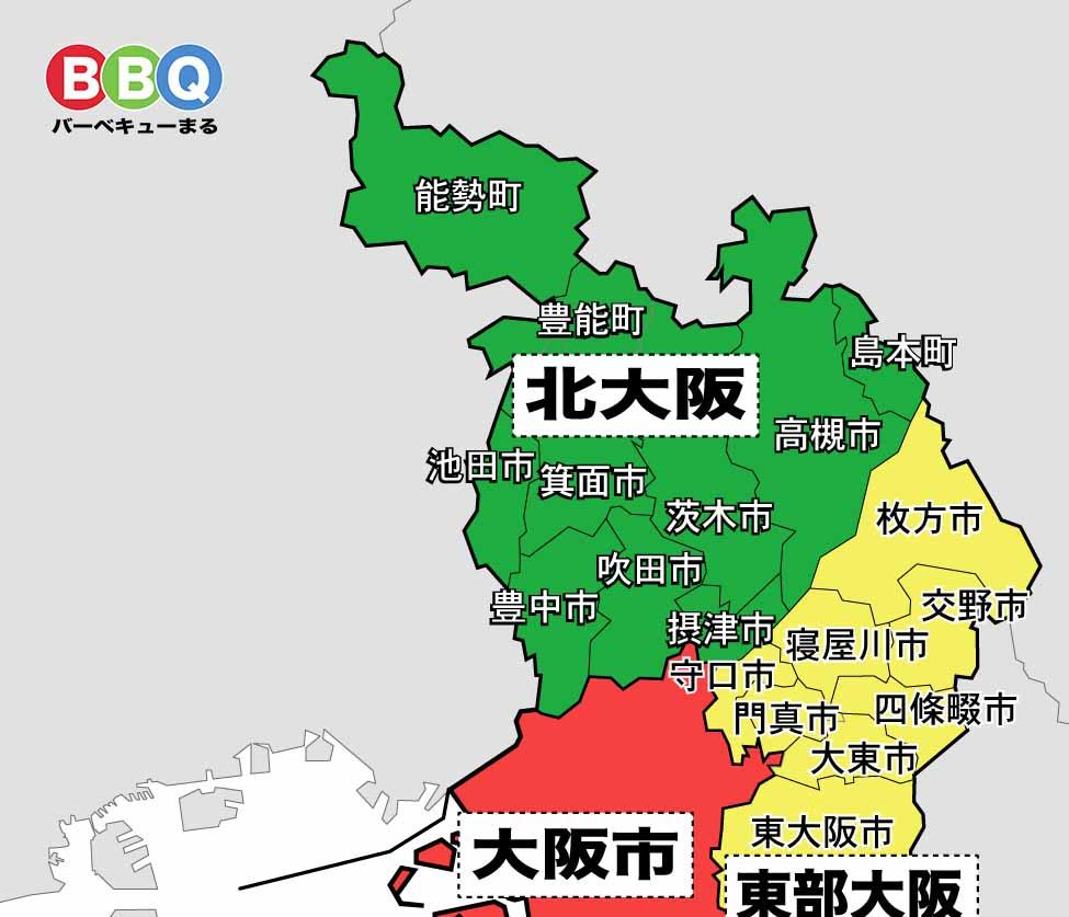 北大阪の地図