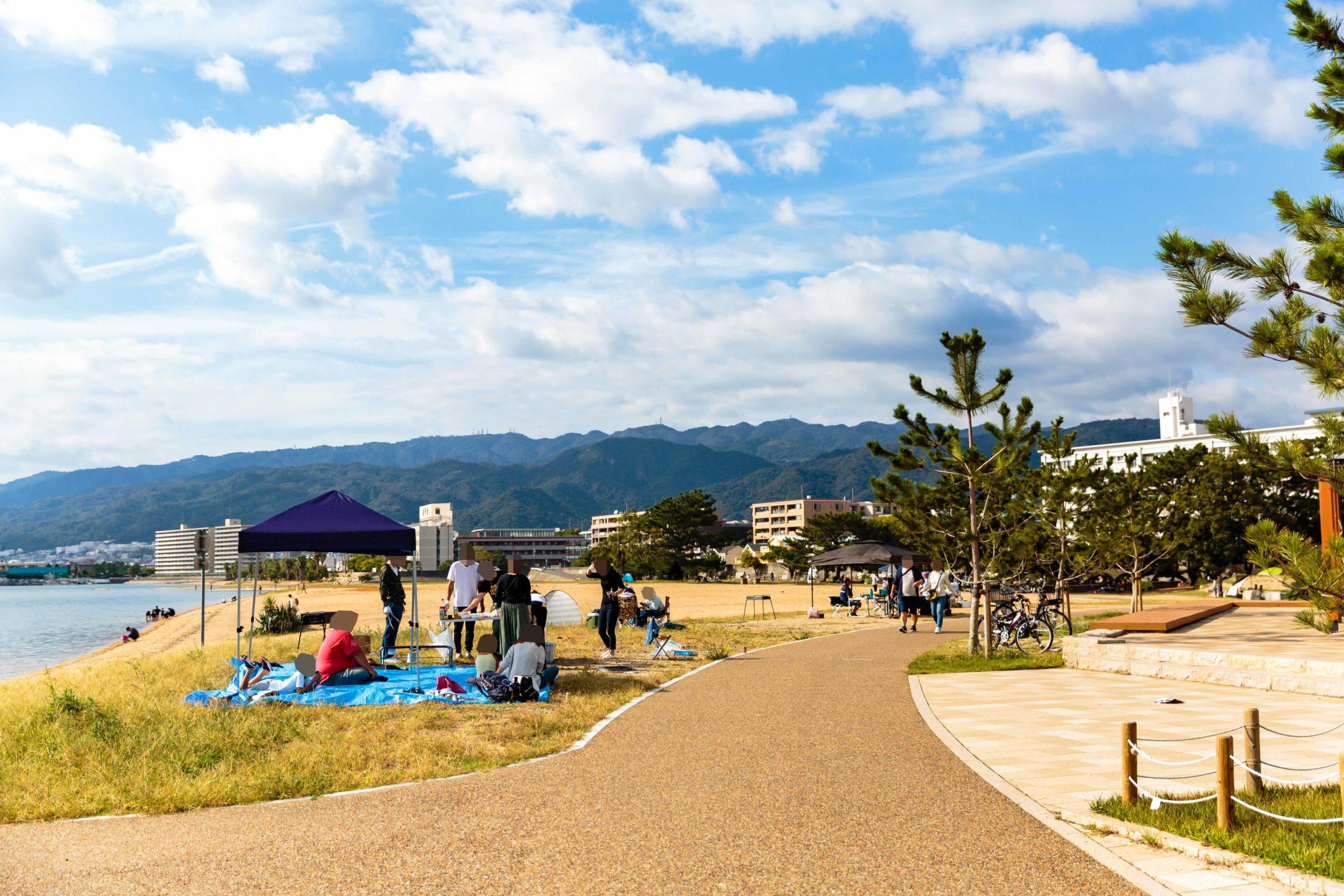 御前浜公園のバーベキュー風景