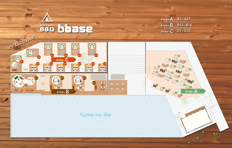 万博記念公園バーベキューb-base全エリアmap