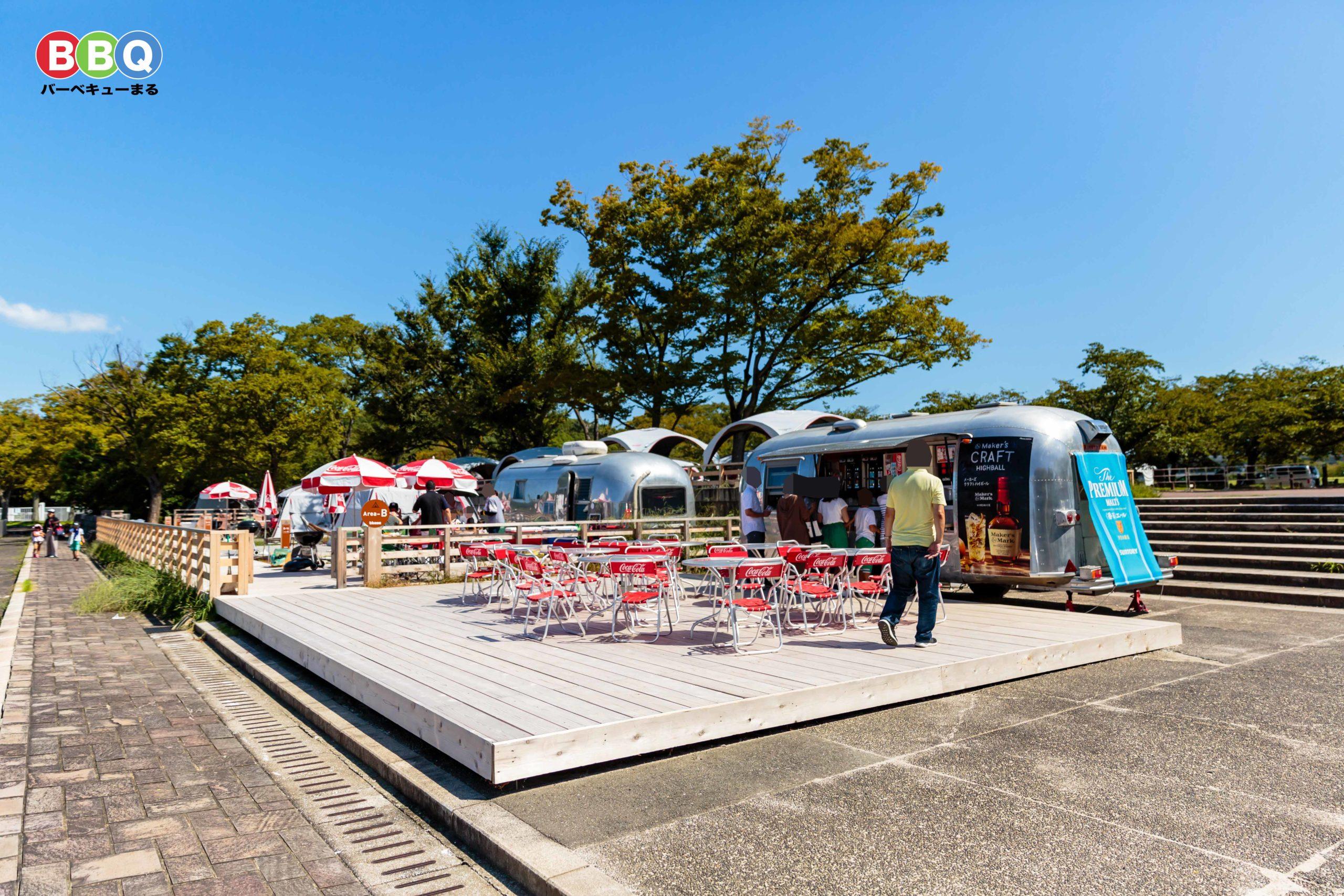 万博記念公園バーベキューb-baseドリンクコーナー