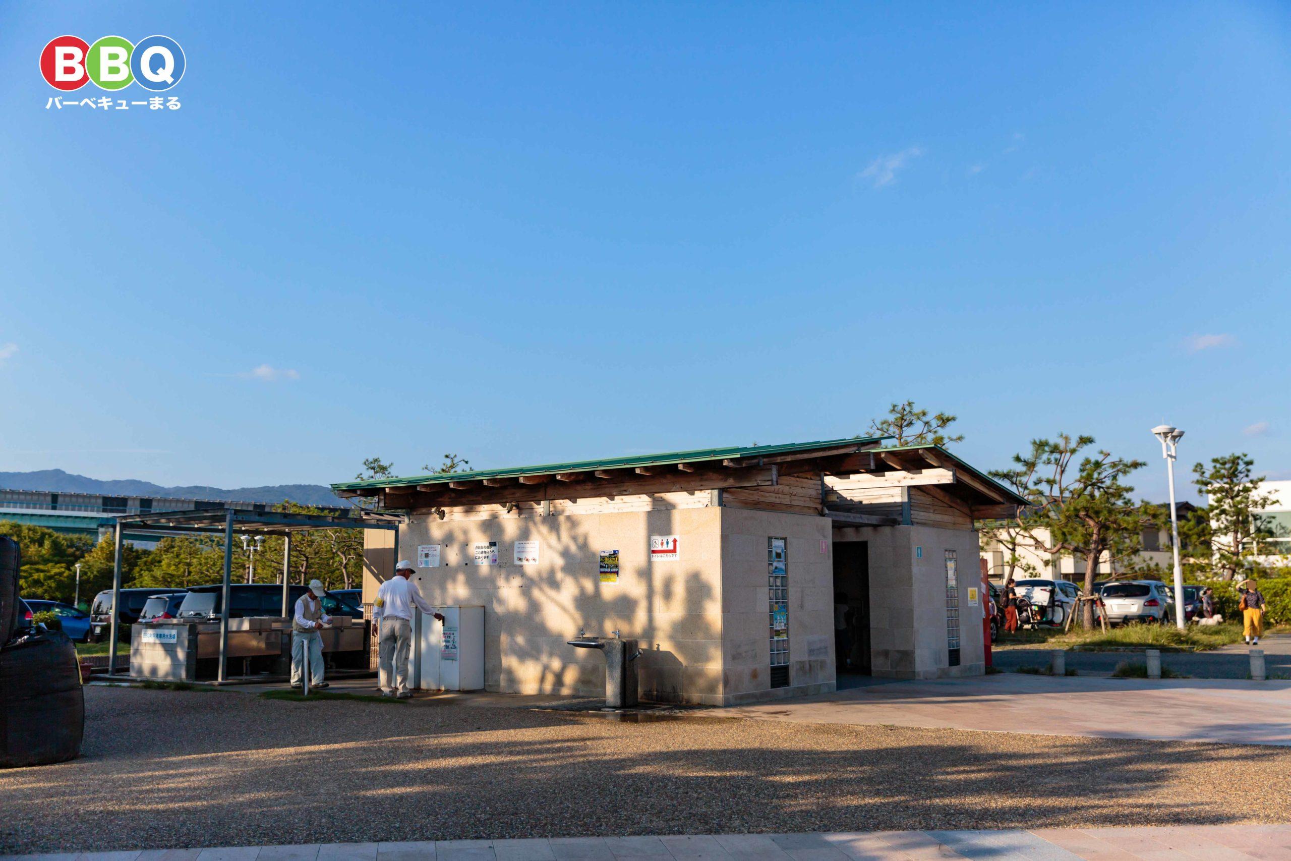 芦屋市総合公園駐車場、トイレなど