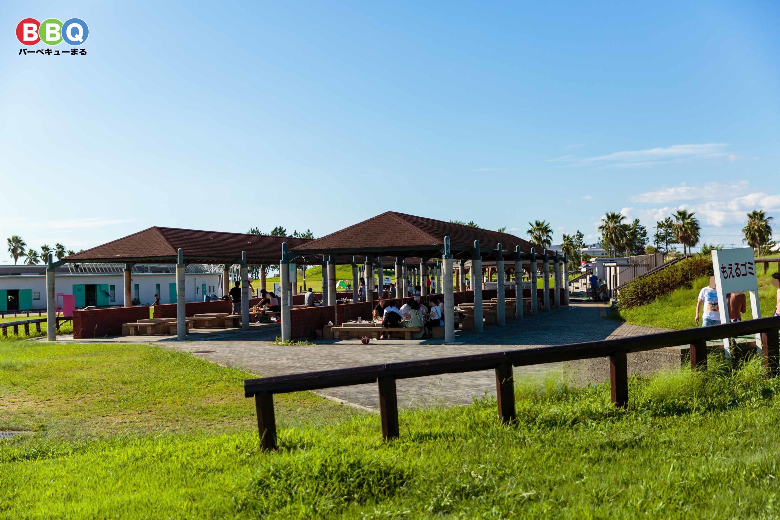二色の浜公園海浜緑地有料BBQ施設のゴミ捨て場