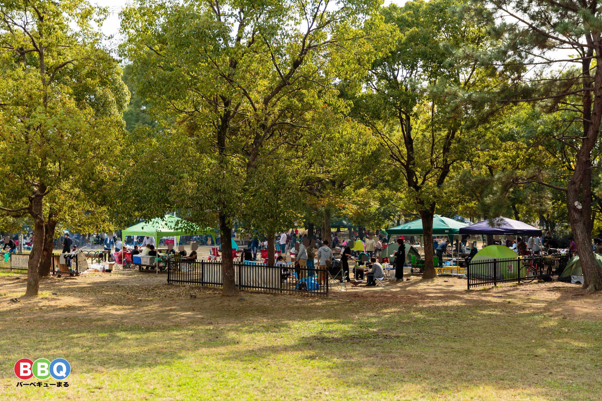 久宝寺緑地公園バーベキューエリア