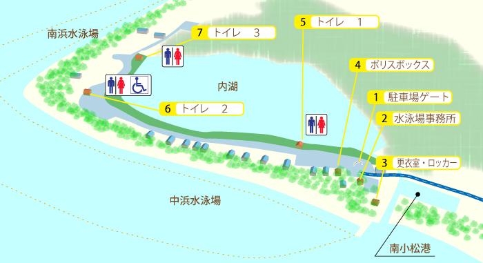 近江舞子中浜水泳場地図