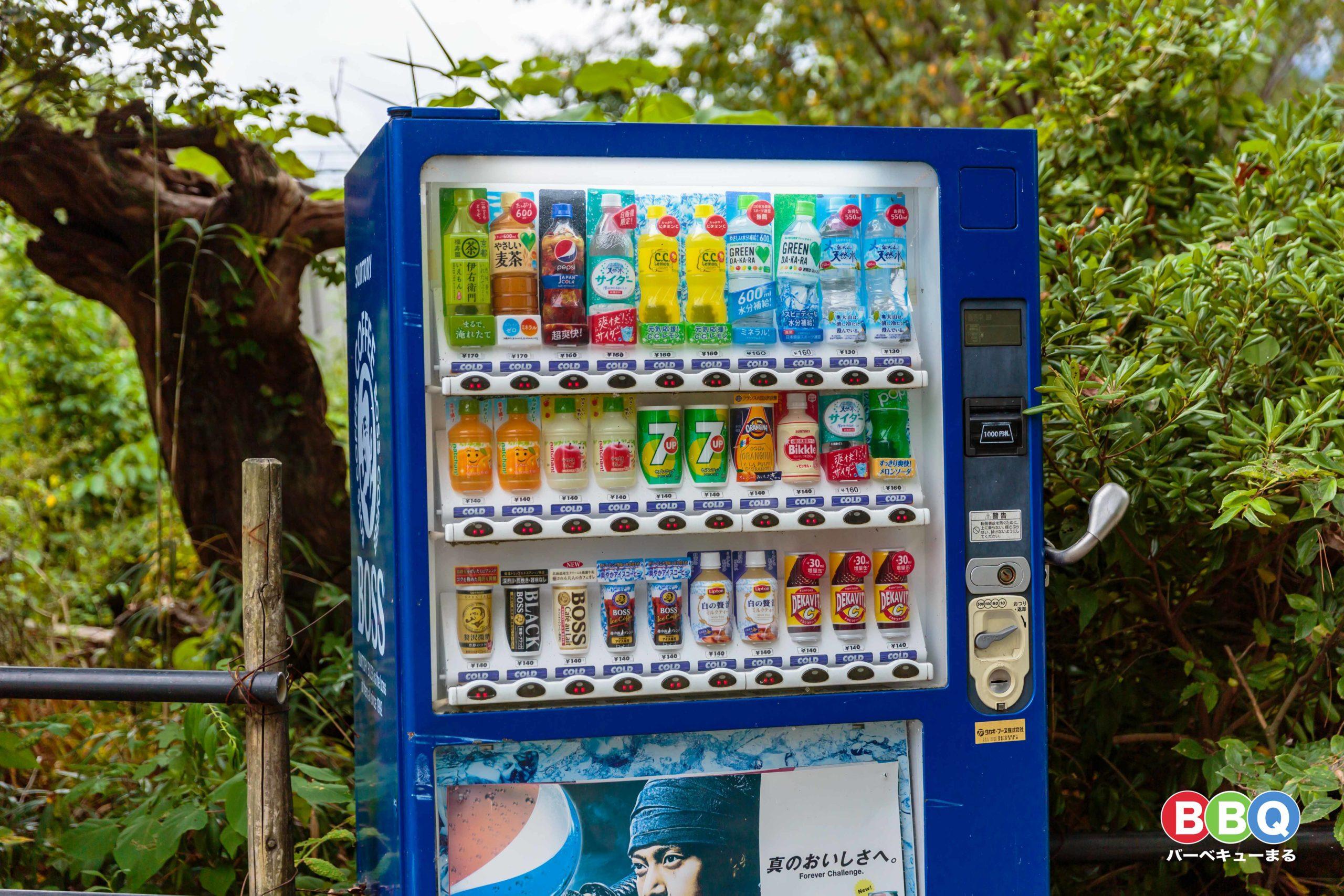 近江舞子中浜水泳場の自販機